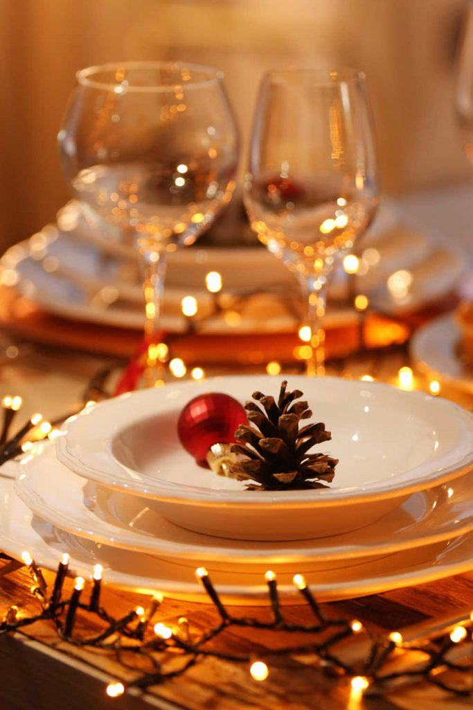 Christmas Garland Decoration Ideas for Table