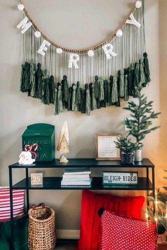 Tassels Garland With Lettering #tasselgarland