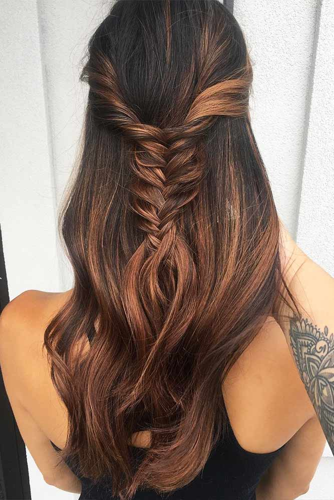 Beautiful Crowned Hairstyles for Long Hair Picture 2