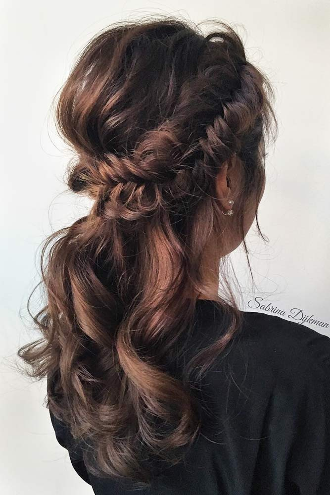 Beautiful Crowned Hairstyles for Long Hair Picture 1
