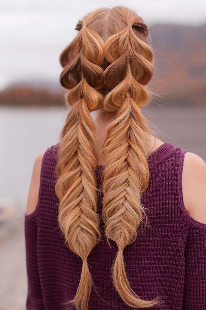 Double Fishtail Braids #braids #fishtailbraids