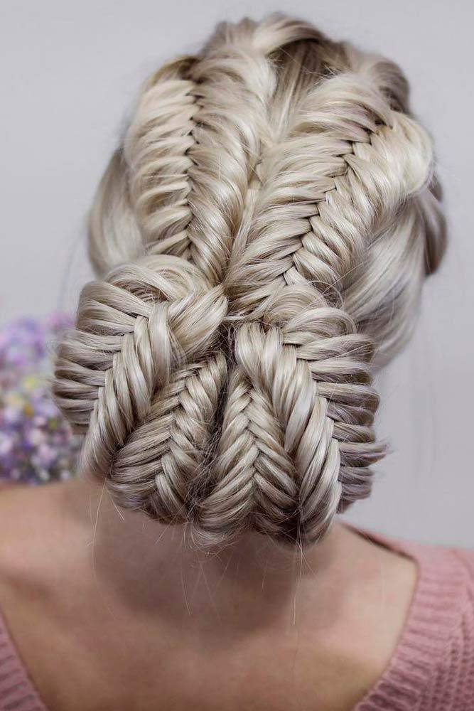 Fishtail Low Bun #braids #lowbunhair