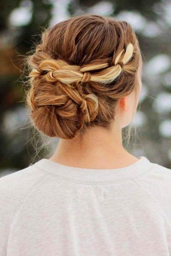 Messy Braided Low Bun #lowbunhair