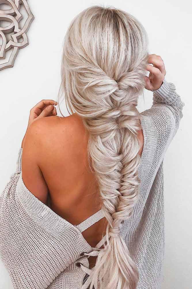 Messy Twisted Fishtail Braid #braids #fishtailbraids