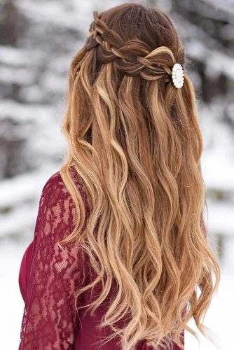 Beautiful Crowned Hairstyles for Long Hair Picture 6