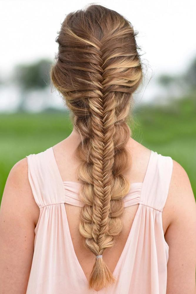 Fishtail Hairstyle Ideas for Christmas Picture 1