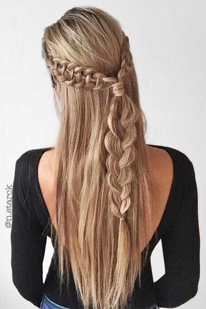 Beautiful Crowned Hairstyles for Long Hair Picture 5