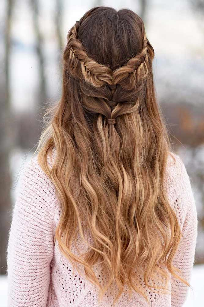 Beautiful Crowned Hairstyles for Long Hair Picture 4
