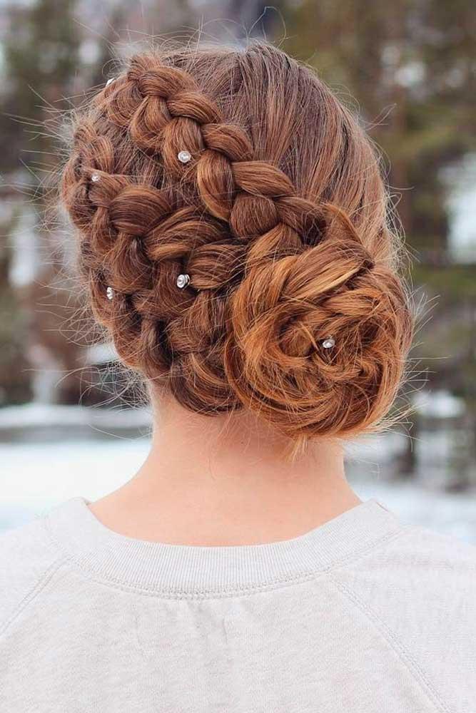 Braided Rose Hairstyle #braidedrosehairstyle #updohairstyles