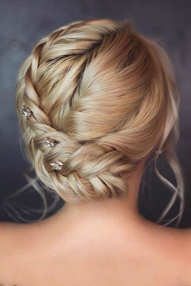 Braided Crown Updo Hairstyles #updohairstyles #formalhairstyles