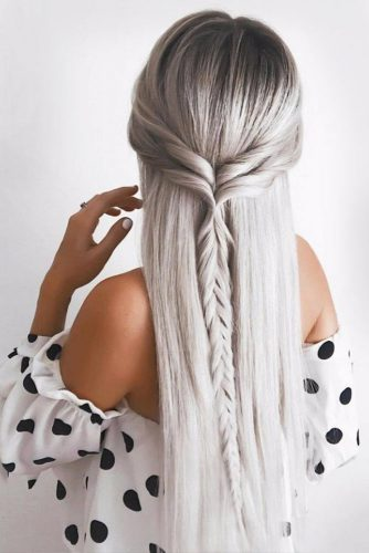 Beautiful Crowned Hairstyles for Long Hair Picture 3