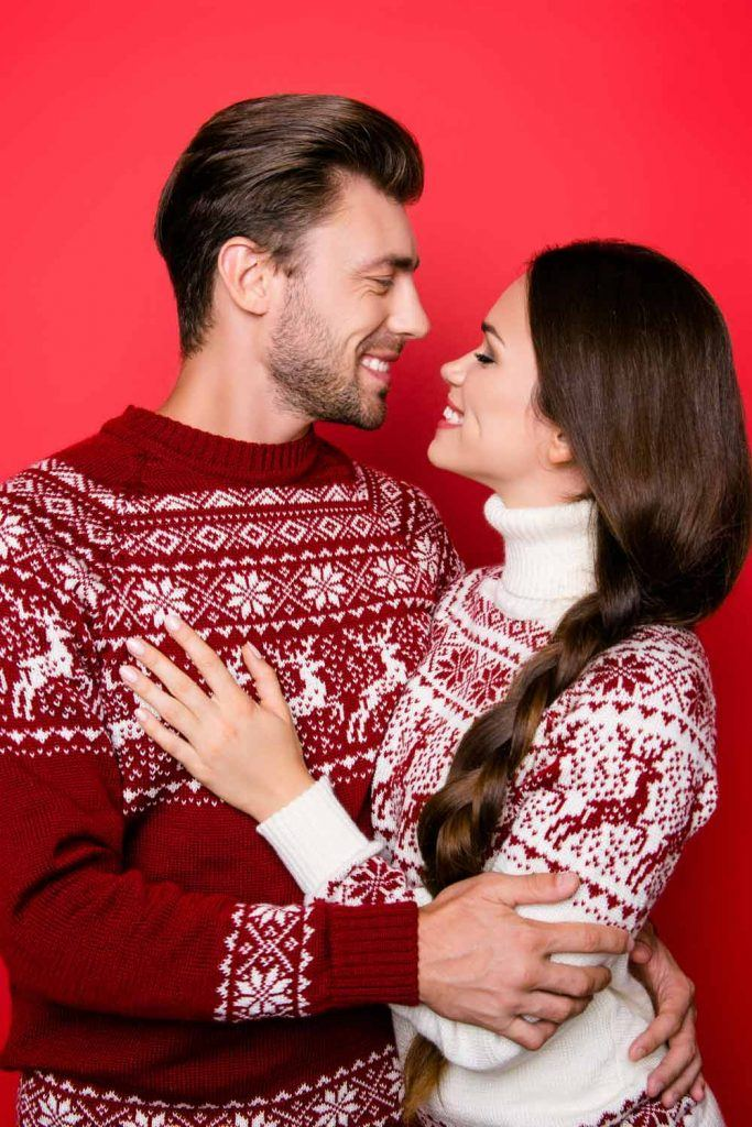 Couple Sweaters with Ornaments