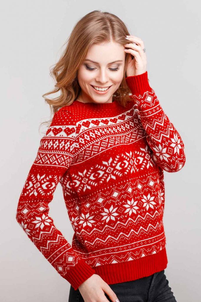 Classy Ornamented Christmas Sweater