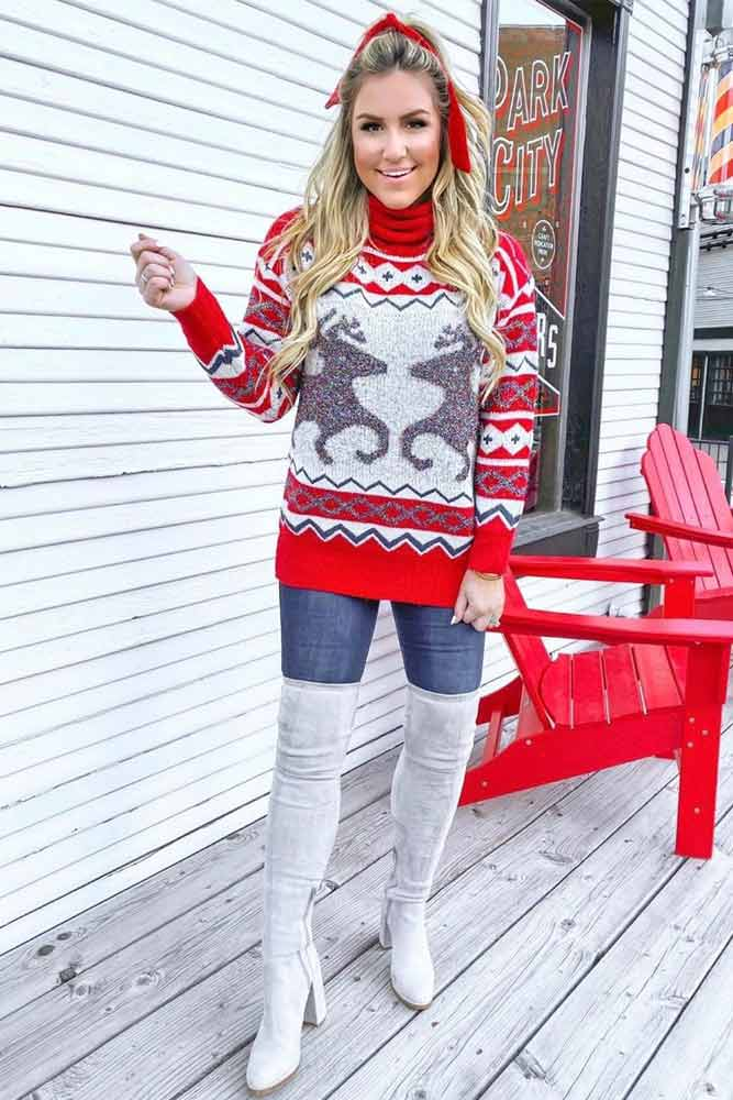 Ugly Christmas Sweater With Ornaments #uglysweater