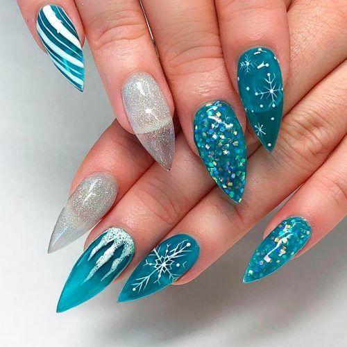 Frozen Transparent Nail Art #winternails