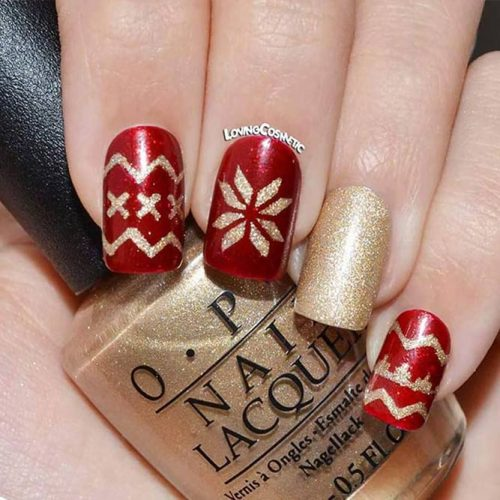 Christmas Nails Patterns for Beautiful Holiday Look Picture 2