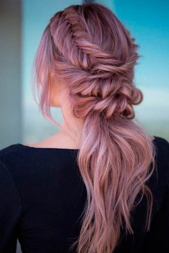 Braided Ponytaile #ponytailhairstyles #braidedhairstyles