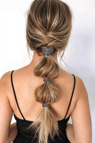 Bubble Ponytail Hairstyle #easyhairstyle #bubbleponytail