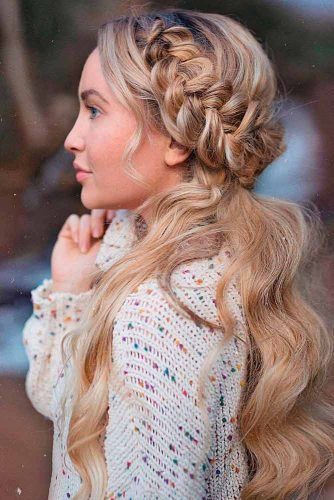 Braided Crown Hairstyle #braidedcrownhair #crownedhair