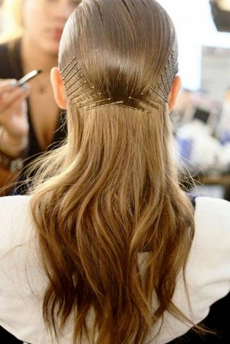 Messy and Sleek Bobby Pin Hairstyles picture5