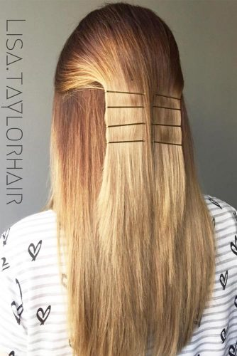 Messy and Sleek Bobby Pin Hairstyles picture6