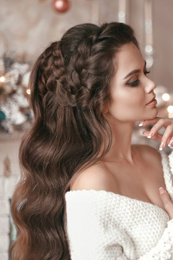 Braided Half Up Christmas Hairstyle