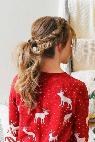 Braided Ponytail For Long Hair #ponytailhairstyle #braidedhair
