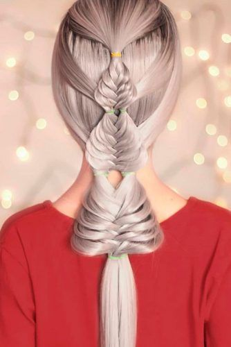 Creative Braided Christmas Trees #braidedhairstyles