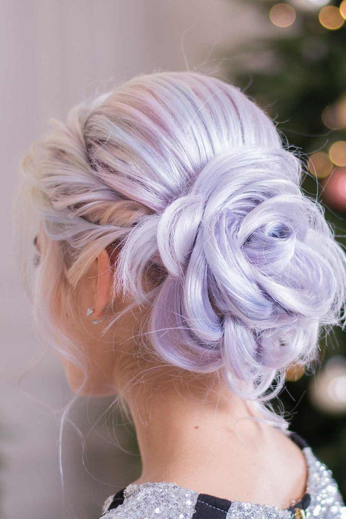 Rose Updo Hairstyle for Christmas