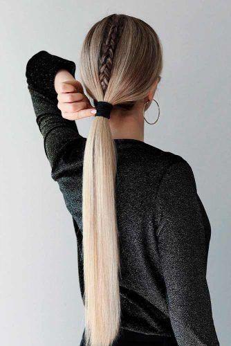 Sleek Low Ponytail #sleekhairstyles