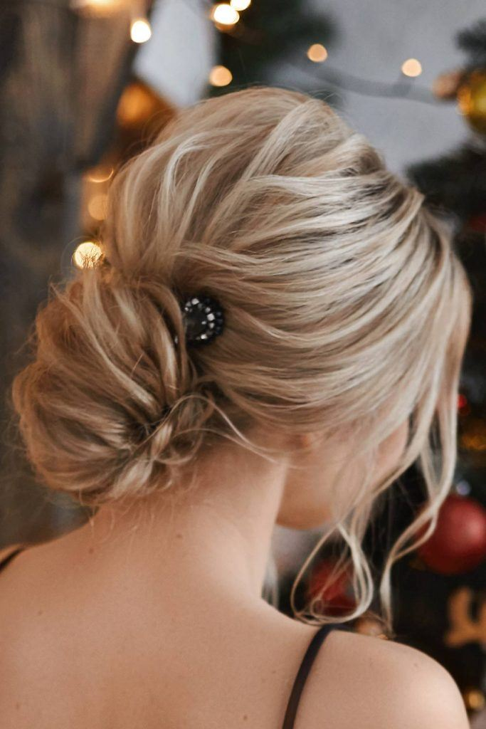 Twisted Updo Christmas Hairstyle
