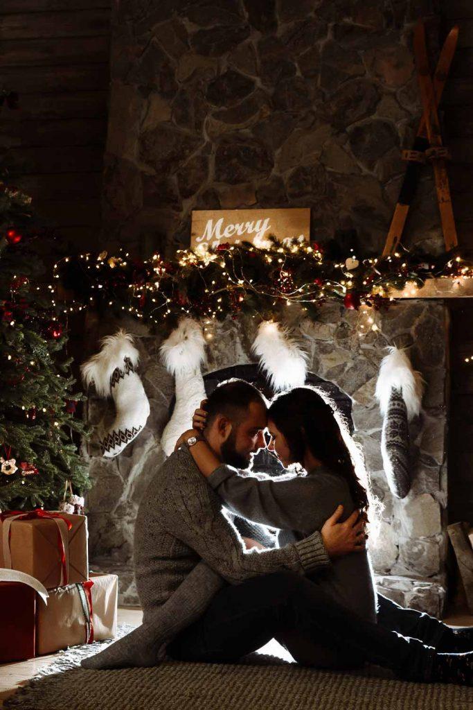 Fireplace Photo Idea for Couple