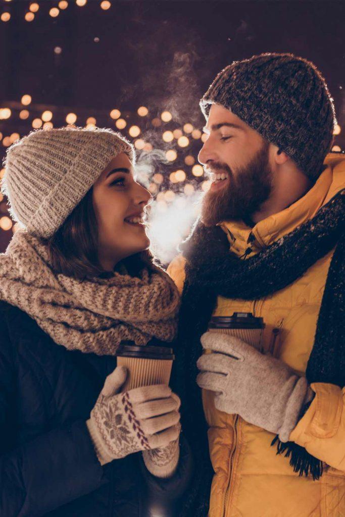 Cute Couple Photo Idea with Coffee