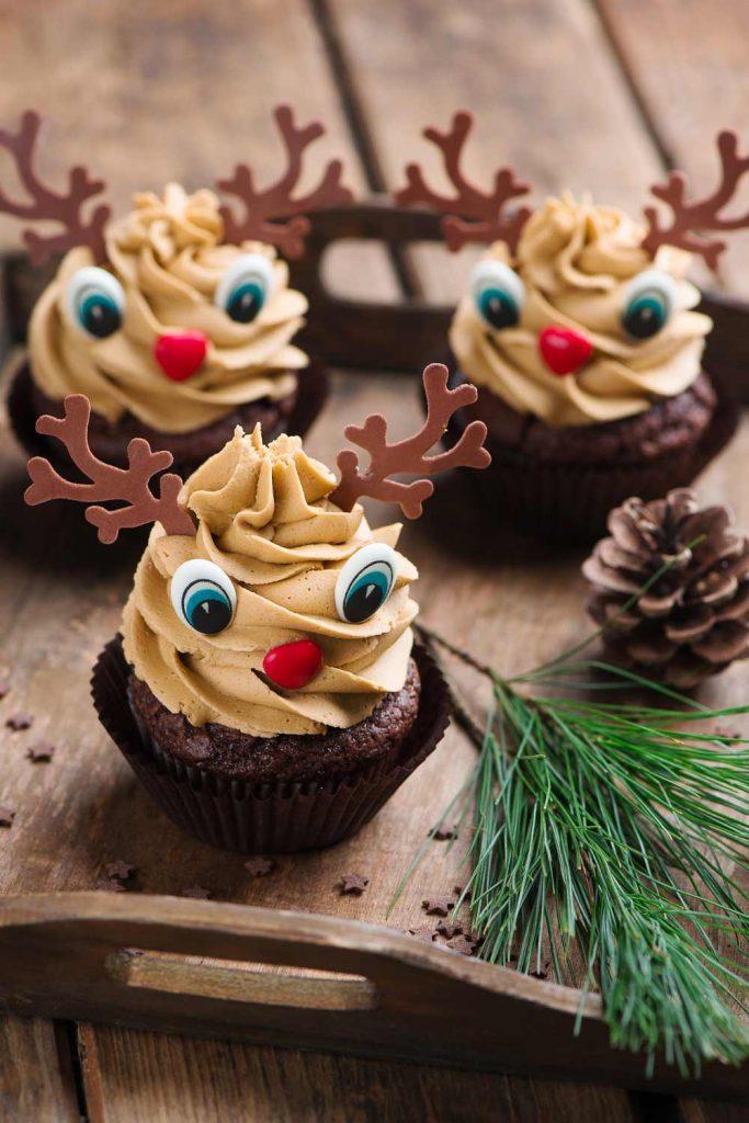 Cute Christmas Cupcake with Deer