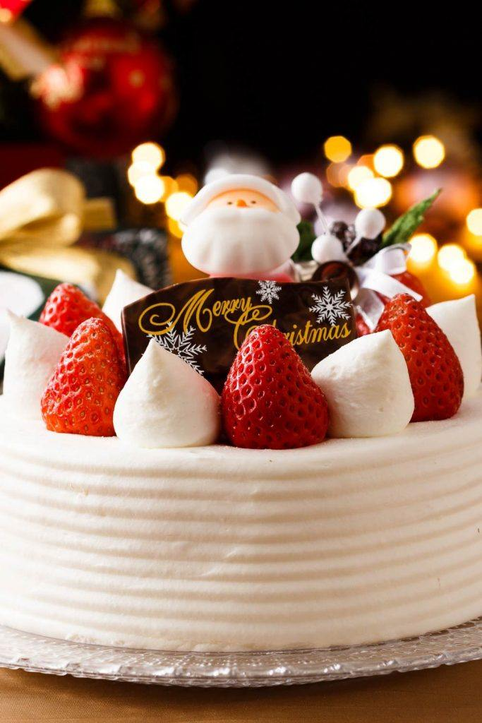 Christmas Cake with Strawverry