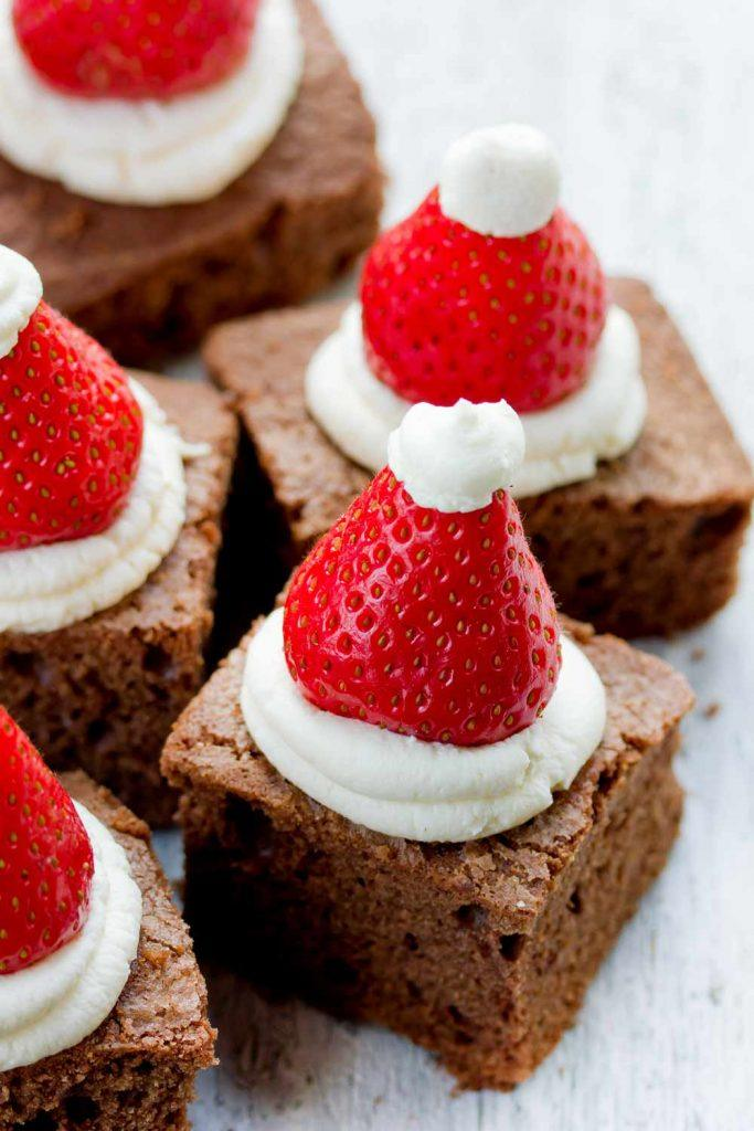 Brownies with Strawberry