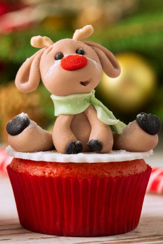Christmas Deer Cupcake Decor