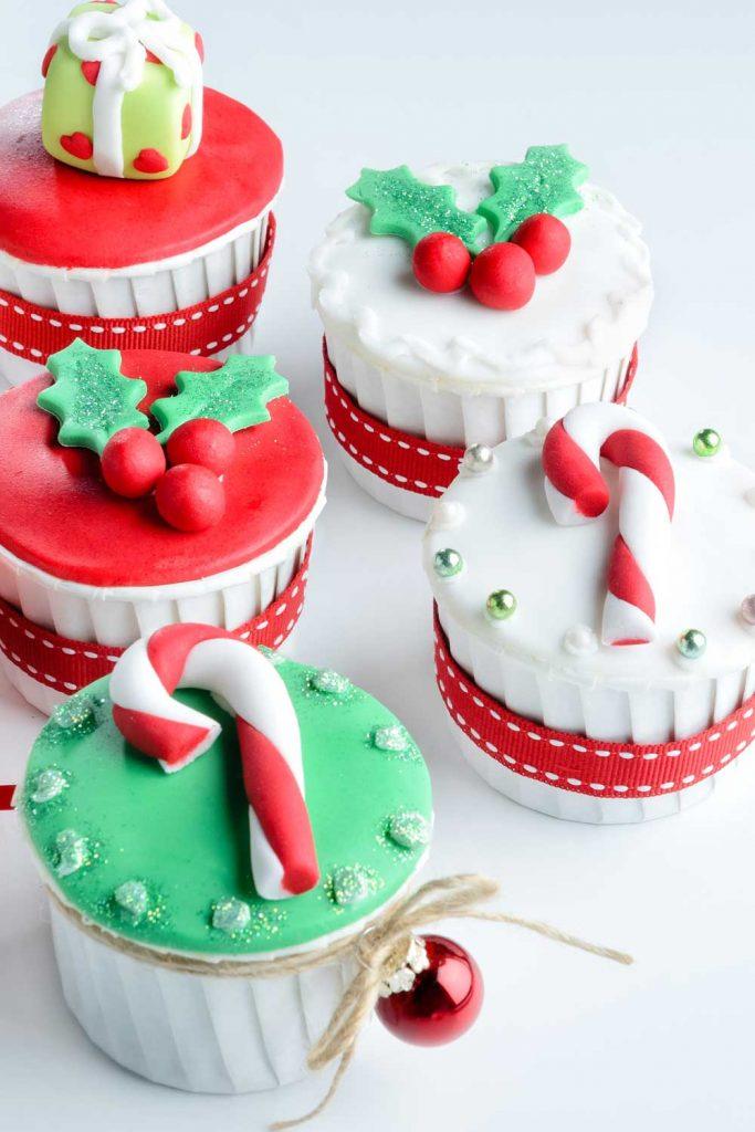 Christmas Cupcake Decor