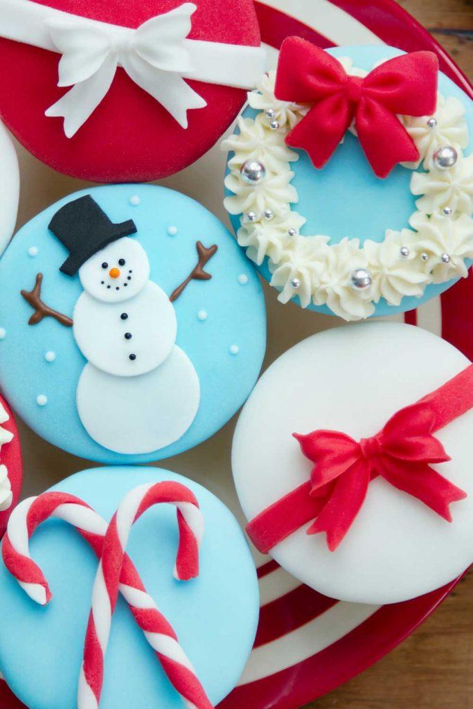 Snowman Christmas Cupcake