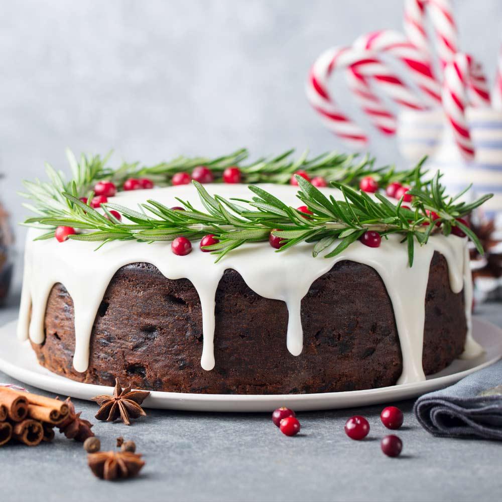 Classy Designed Christmas Cake
