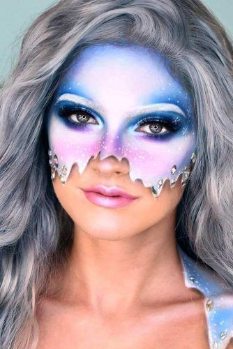 Fairy Snow Mask Makeup Idea #maskmakeup