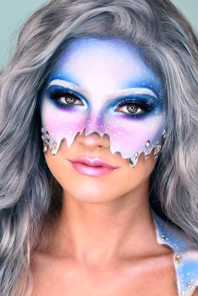 Fairy Snow Mask Makeup Idea #maskmakeup