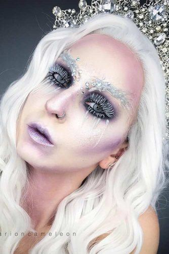 Fairy Snow Queen Christmas Makeup #snowqueen
