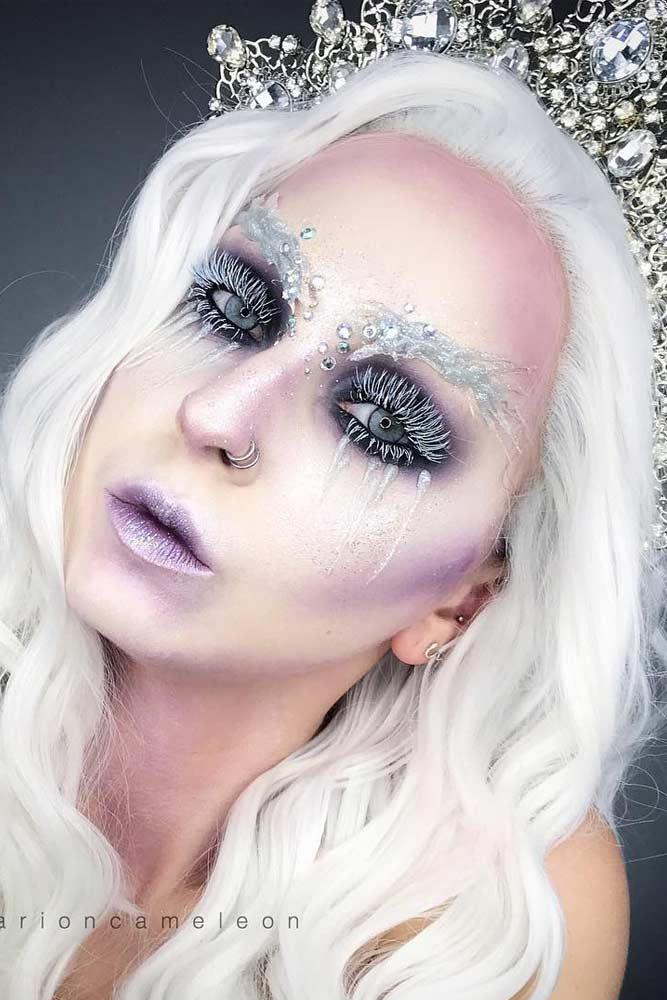 Fairy Snow Queen Christmas Makeup #snowqueen