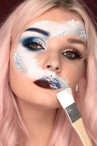 Snow Art For Christmas Makeup #christmasmakeup
