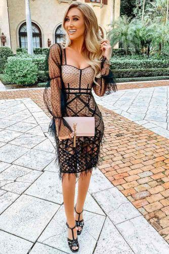 Beige And Black Lace Dress #blacklace