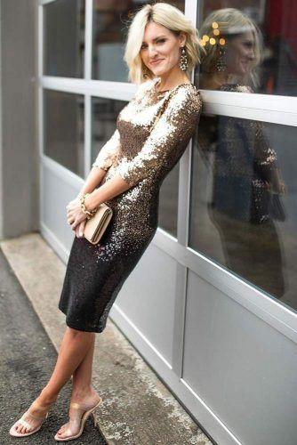 Ombre Black And Gold dress Designs #golddress