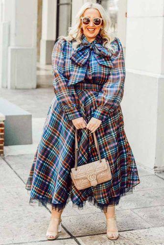 Plus Size Blue print Dress #plussizedress