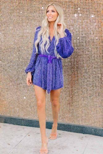 Mini Blue - Violet Squin Dress #minidress