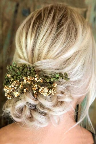 Braided Updo With Accessory For Christmas #floralaccessory